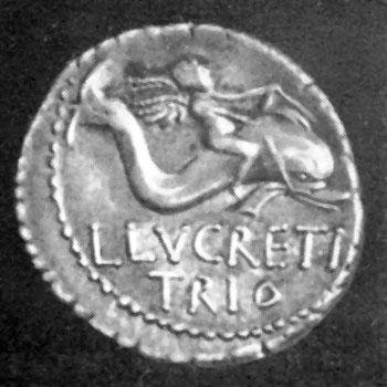 Римская монета, 74 г. до н. э. (Британский музей).